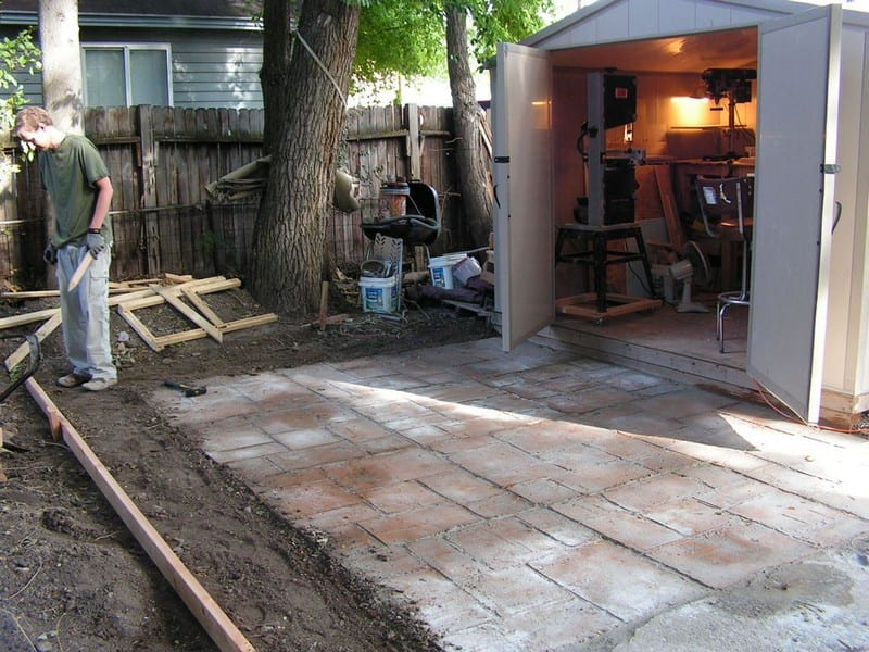 Do-It-Yourself Cement Patio - Your Projects@OBN on Diy Concrete Patio Ideas id=49094
