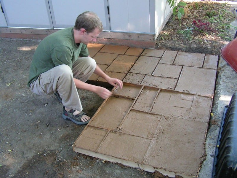 Do-It-Yourself Cement Patio - Your Projects@OBN on Diy Concrete Patio Ideas id=67539