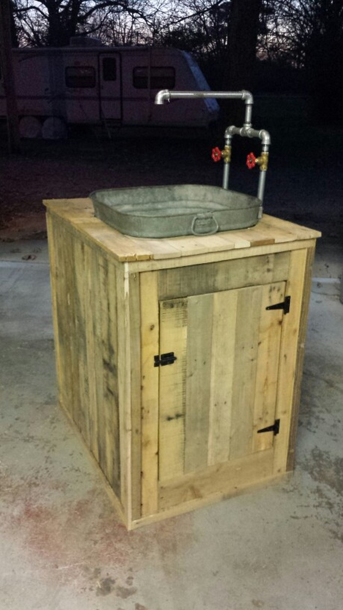Build your own unique outdoor sink with an old wooden ... on Outdoor Patio Sink id=40420