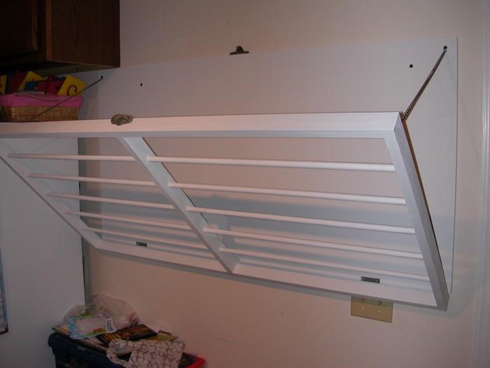 space saving wall mounted drying rack