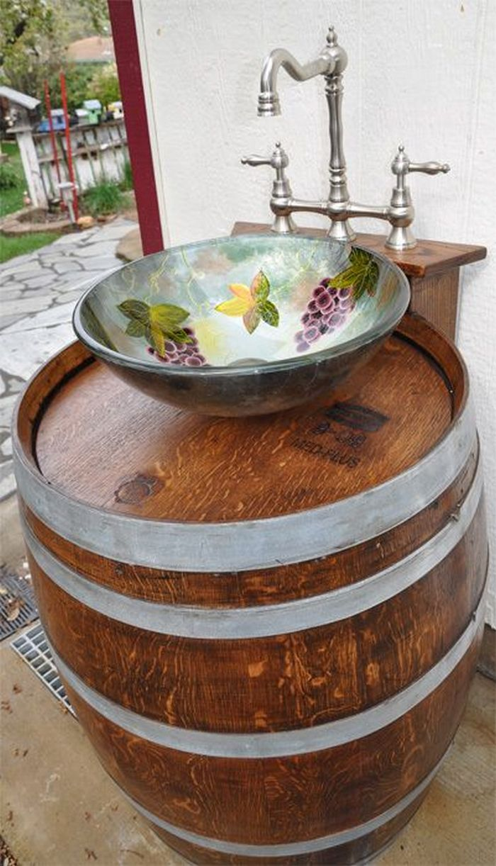 Build your own unique outdoor sink with an old wooden ... on Outdoor Patio Sink id=71988