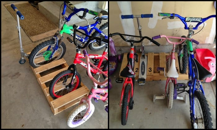 make your own bike rack out of pallets