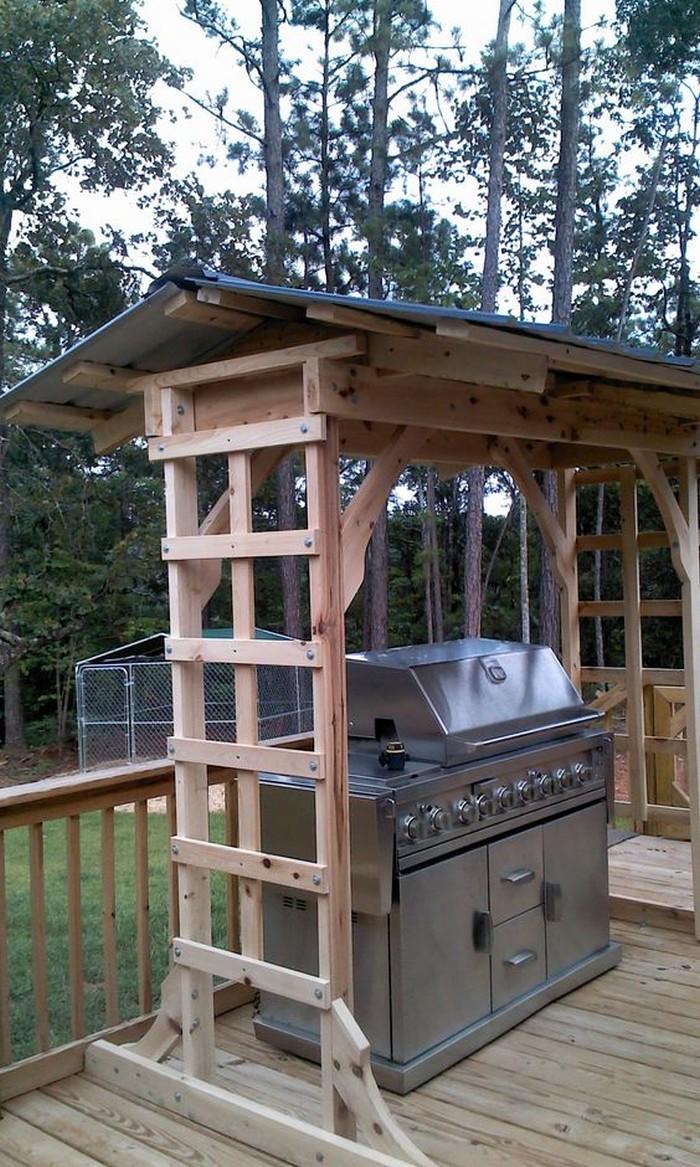 Build your own backyard grill gazebo   DIY, Grill Gazebo on Diy Bbq Patio id=40717