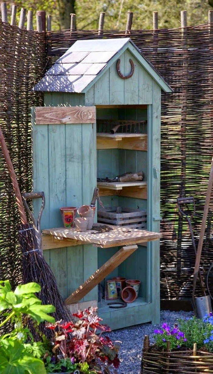 Build a whimsical tool shed for your garden! - Your ... on Cute Small Backyard Ideas  id=61910