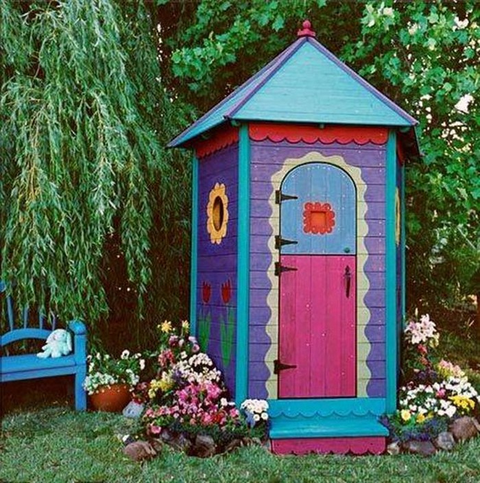 Build a whimsical tool shed for your garden! - Your ... on Whimsical Backyard Ideas id=77569