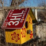 Diy License Plate Birdhouse How To Make A License Plate Birdhouse