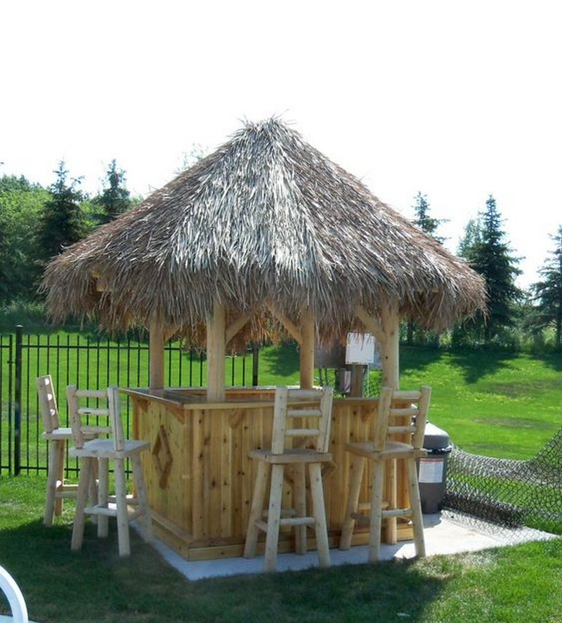 Build Your Own Backyard Tiki Bar | Your Projects@OBN on Backyard Bar With Roof id=18715