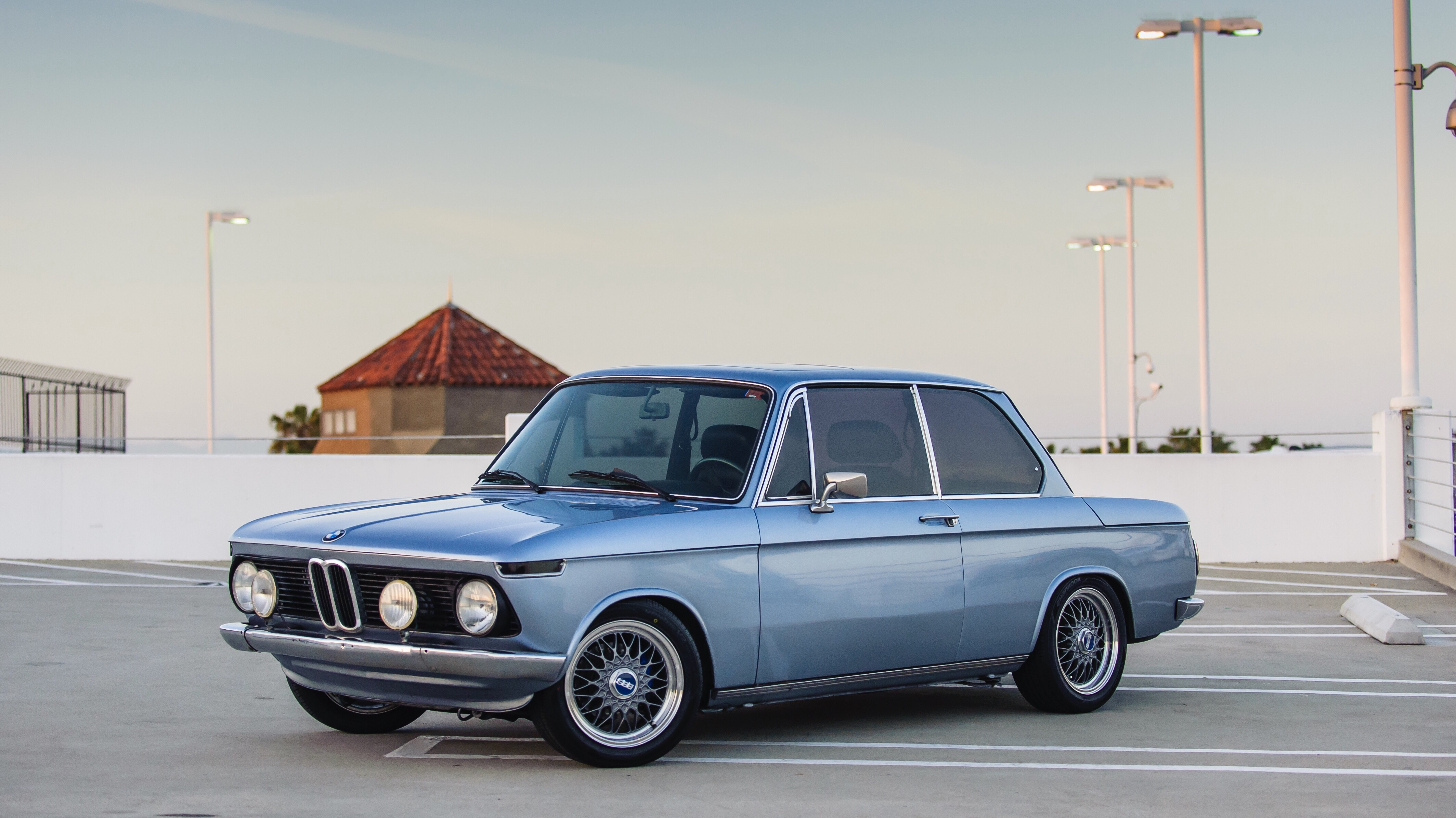 "Fjord Blue 1976 BMW 2002 with custom 15"" BBS"