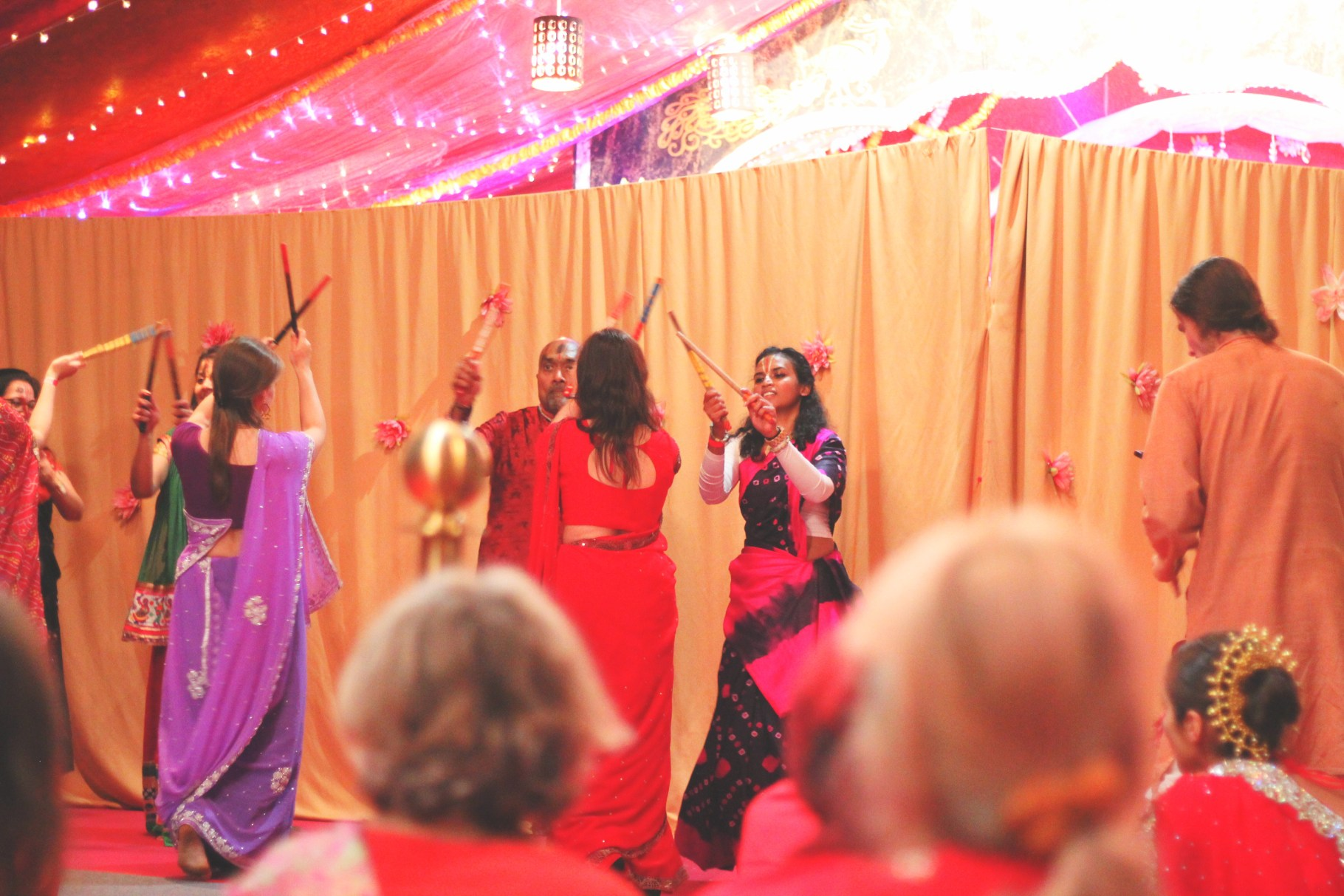 Dancing the night away during Navaratri