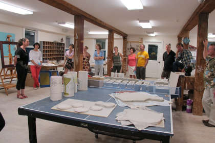 Visitors at Project Art.