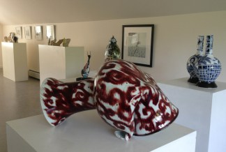 The gallery features work from recent shows and resident and visiting artists.