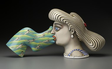 Crosscurrent, Sergei Isupov, Porcelain, Slip, Glaze, 2015