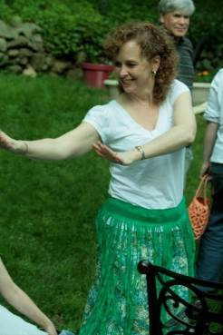 Mrs. DiMuzio does the hula! I don't think she knew that she was being photographed!