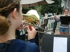 Juliana and her trombone.