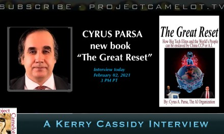 "CYRUS PARSA:  NEW BOOK ""THE GREAT RESET"" INTERVIEW"