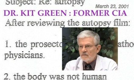 KIT GREEN, ALIEN AUTOPSY LEAKED DOCS – UPDATED August 8, 2019