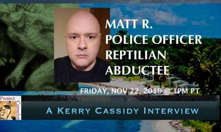 POLICE OFFICER:  REPTILIAN CONTACTEE:  MATT R.