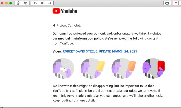YOUTUBE  and NOW VIMEO HAVE DELETED THE PROJECT CAMELOT CHANNEL!