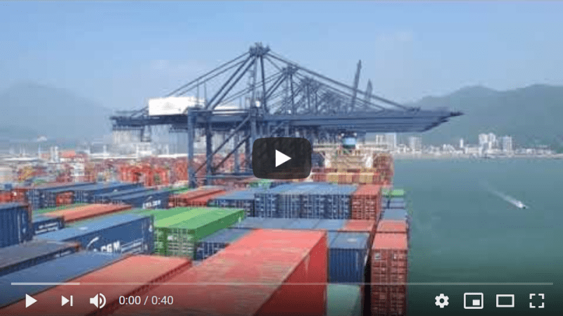 Arriving from South America to the Port of Yantian