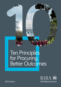 Ten Principles for better Procurement (RIBA)