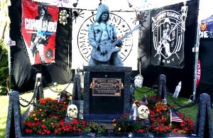 Ramones, Johnny Ramone, Hollywood forever cemetery, day of the dead, alter, project dreamscape