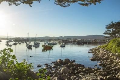 Boats greet the morning in Monterey Bay Harbor NotSoSAHM