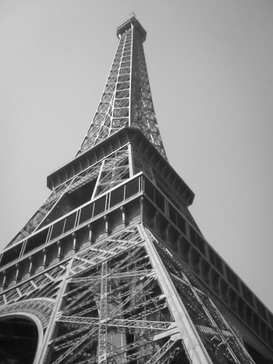 Looking up to the Eiffel Tower, Paris, France Not So SAHM