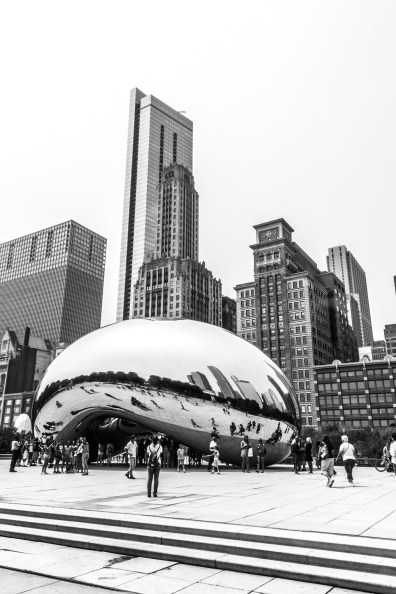 Cloud Gate also known as The Bean in Chicago Not So SAHM