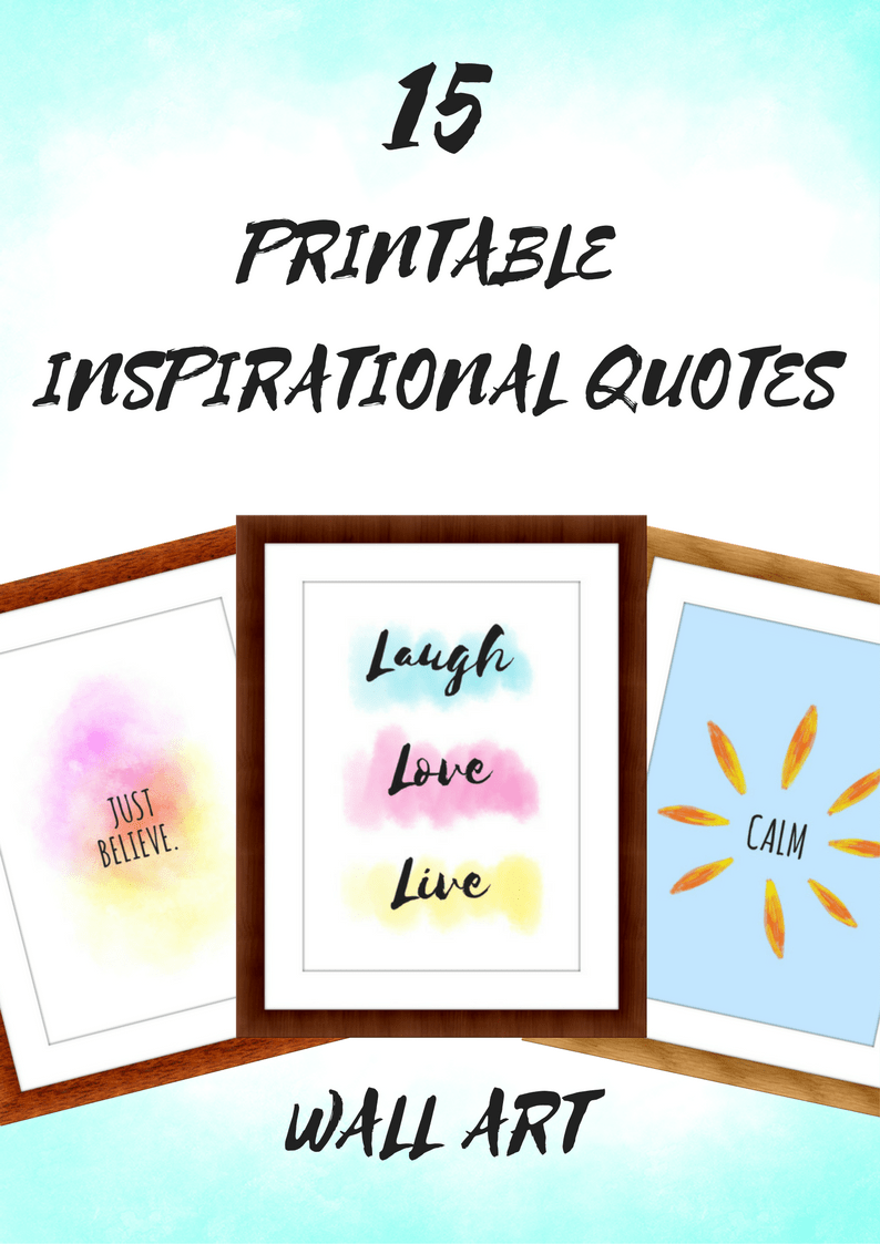 graphic regarding Printable Inspirational Quotes known as 15 Printable Inspirational Rates Prints (Obtain)
