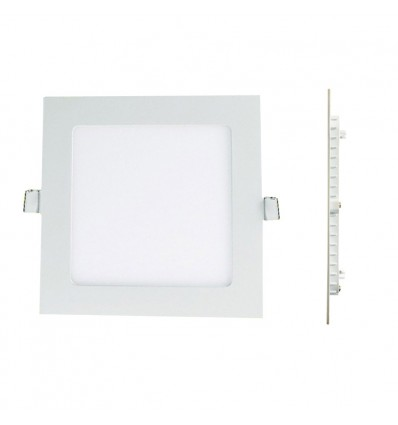 spot encastrable led carre downlight panel extra plat 25w blanc froid 6000k