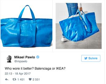 le sac Balenciaga d'IKEA