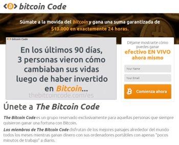 bitcoin code estafa