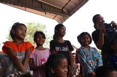 Students of Angkor Tree with teacher Moe