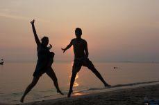 Sunset jumping shots at Otres