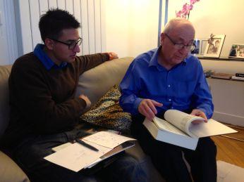 Cousins Gerard and David sharing family trees