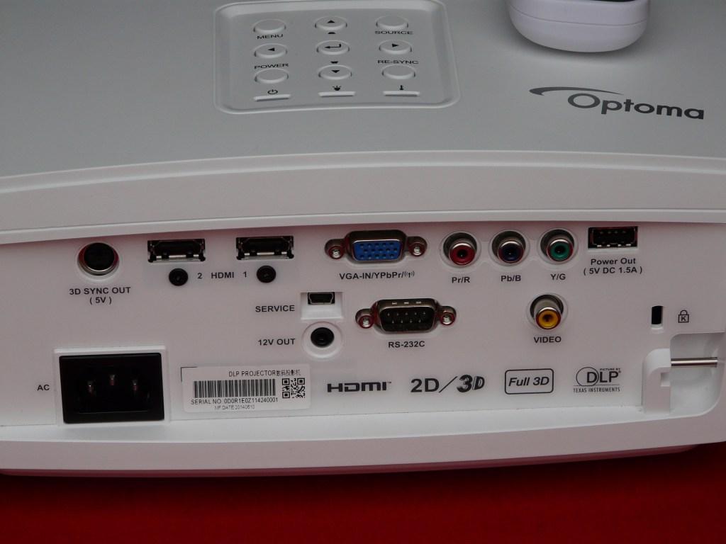 Optoma HD161X back