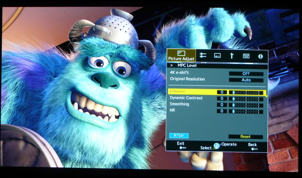 JVC X500 Sharpness Monsters Inc MPC 0