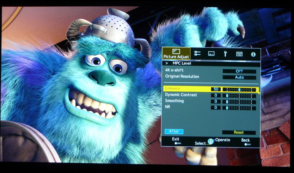 JVC X500 Sharpness Monsters Inc MPC 50