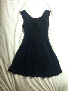 V-back black lace dress-$18, Forever21.