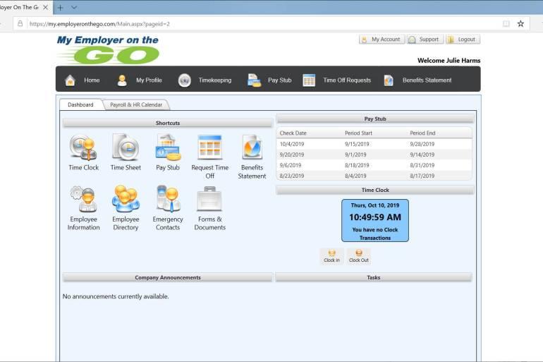 ess system screenshot