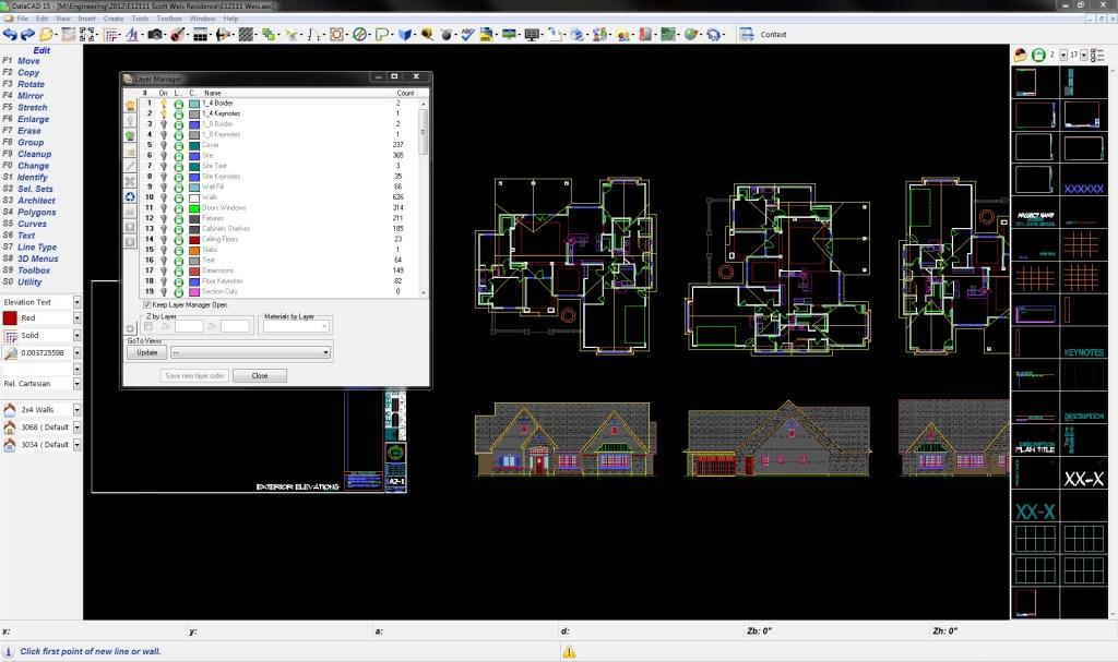 Screenshot Of DataCAD