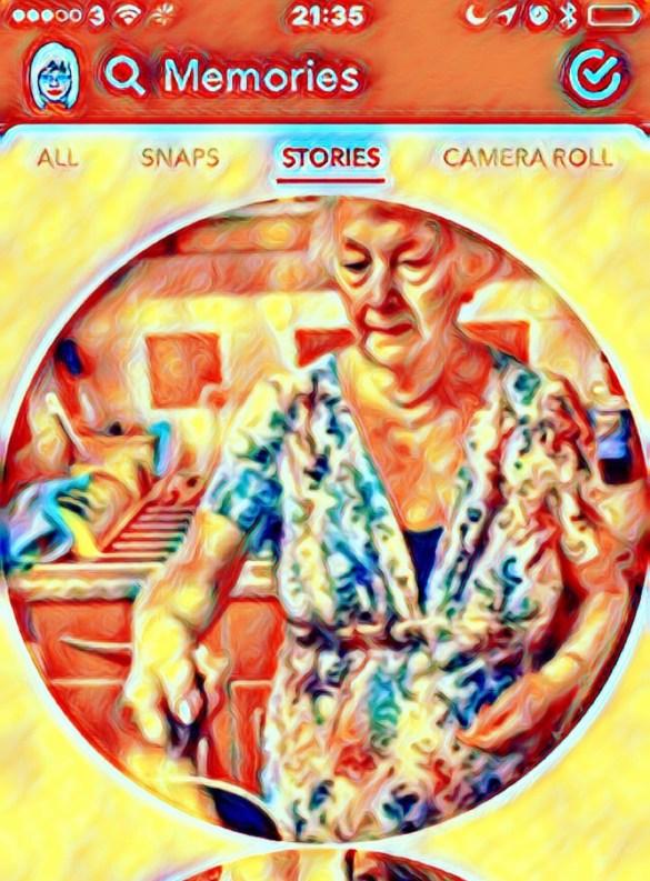 Granny sends a Snapchat #GrannysendsaSnapchat