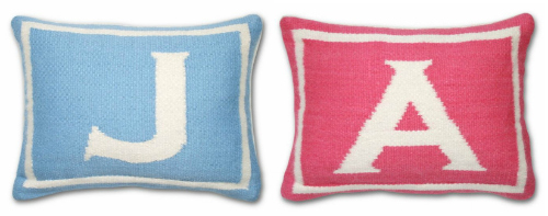needlepoint pillows for the nursery