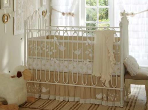 high vs low otomi inspired crib bedding