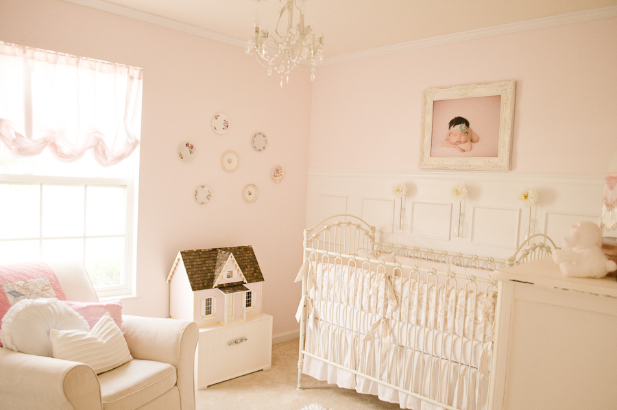 Baby Pink And White Rooms Novocom Top, Shabby Chic Baby Furniture