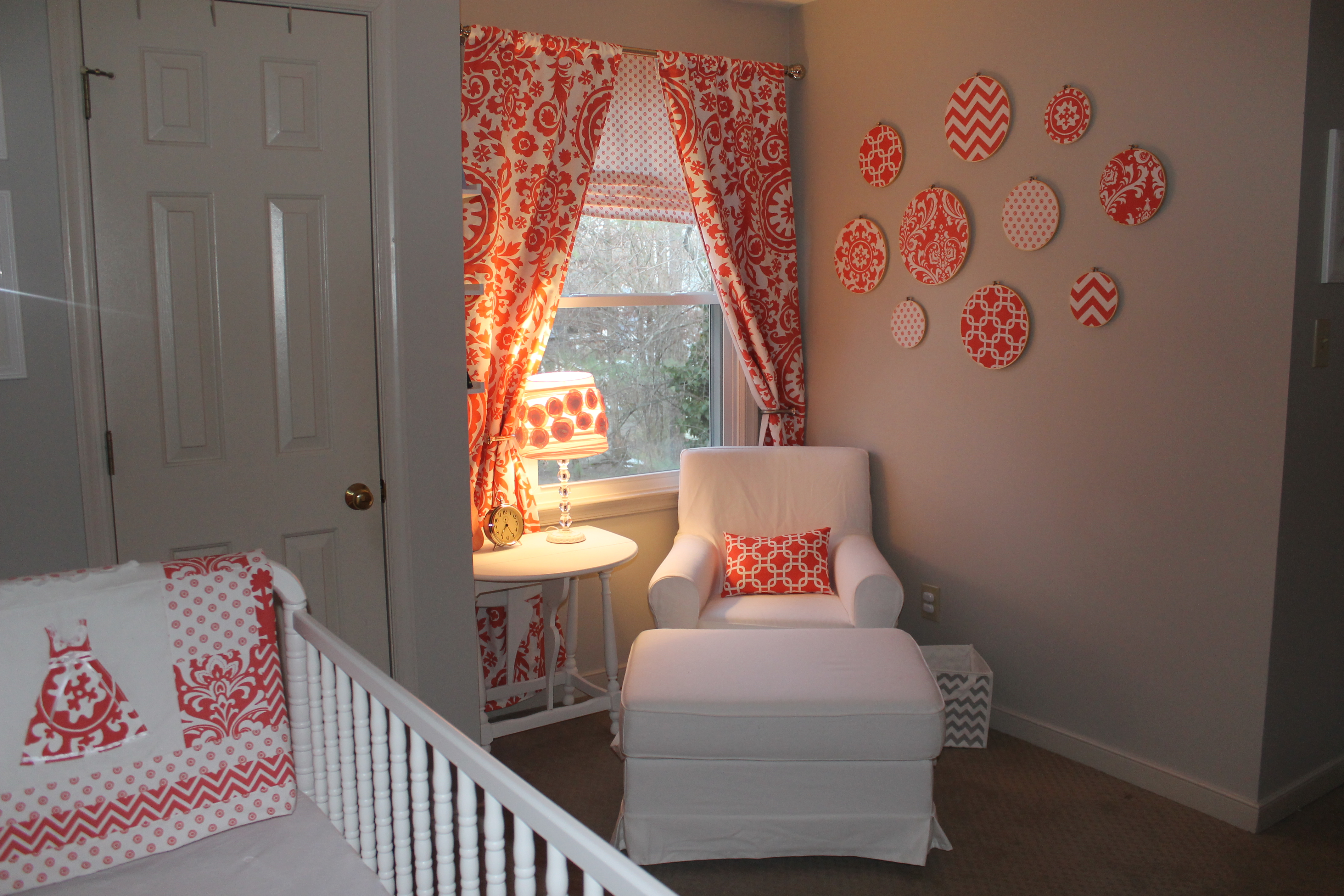 Coral And Gray Vintage Inspired Girls Nursery Project Nursery