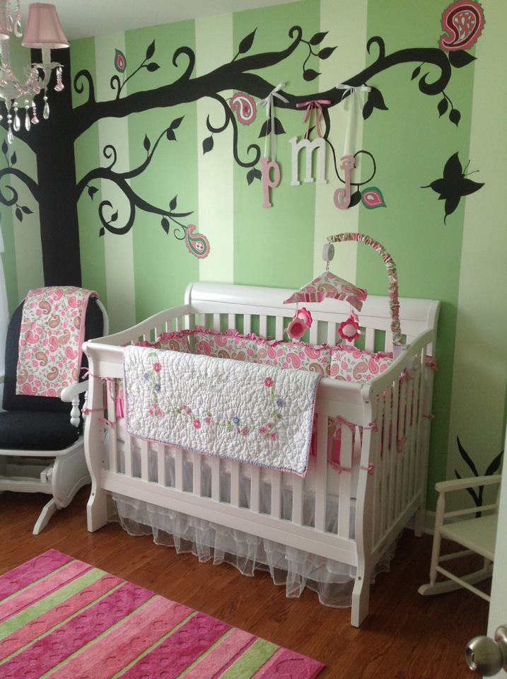 Paisley S Pink And Green Whimsical Nursery Project Nursery