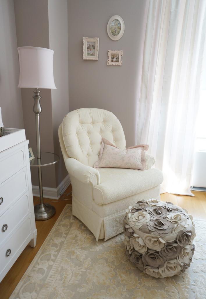 Pink Ivory And Grey Twin Girls Nursery Project Nursery