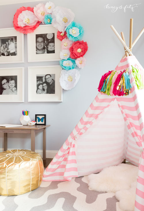 Decorating a small home might seem like a bit of a challenge at first. Brooke's Pink Sky Big Girl Room - Project Nursery