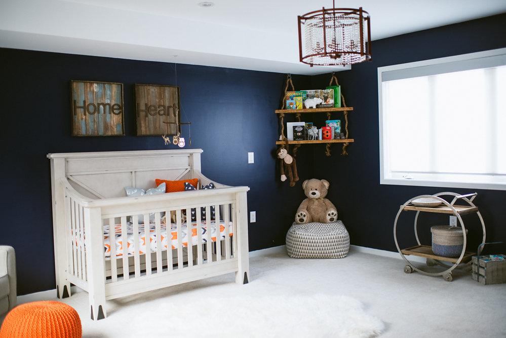 rustic meets modern nursery project
